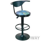 【耀偉】氣壓高吧椅E553-餐椅/會客椅/洽談椅/工作椅/吧檯椅/造型椅/高腳椅/