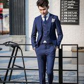 西裝套裝含西裝外套+西裝褲(三件套)-經典線條穩重迷人伴郎男男西服73hc84【時尚巴黎】