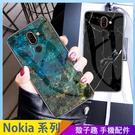 大理石玻璃殼 Nokia 8.1 6.1...