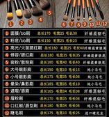 化妝刷套裝全套化妝工具散粉修容粉底眼影彩妝12支動物毛 概念3C旗艦店