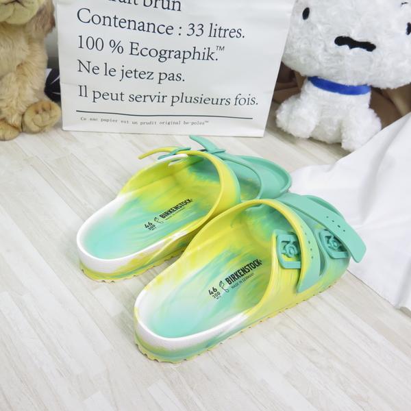 Birkenstock 勃肯 Arizona EVA 拖鞋 防水 男款 1019695 黃綠漸層【iSport愛運動】
