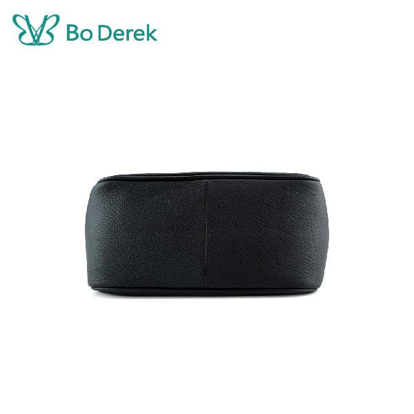 Bo derek 素面真皮鏈帶包-黑色
