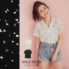 短袖 襯衫 Space Picnic|小V領繽紛幾何形雪紡短袖襯衫(現+預)【C19033042】
