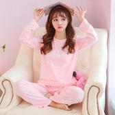 月子服空調睡衣女長袖成人超薄款套裝棉質韓版月子夏季長褲 nm1971【VIKI菈菈】