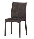 【森可家居】妮亞休閒椅(棕色) 7CM522-11 餐椅 戶外 籐編 洽談椅