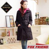 【FOX FRIEND 女 GORE-TEX 兩件式風衣《黑色》】1962/防水外套/機能外套/旅遊/大衣