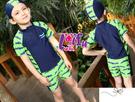 得來福,F25兒童泳衣西瓜裝拉鍊短袖兒童泳衣小朋友游泳衣男童泳衣,售價550元