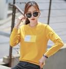 T恤 女款長袖T恤2件純棉衛衣薄韓版寬鬆黑色長袖t恤上衣初秋季年新款女裝
