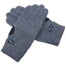 手套 男士秋冬季羊毛保暖觸屏掌心墊開車騎行戶外毛線針織手套