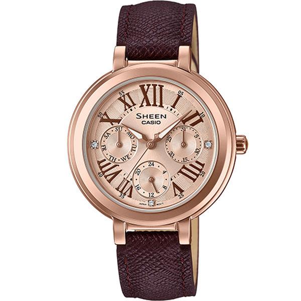 CASIO卡西歐SHEEN優雅棕色腕錶      SHE-3034GL-7A2