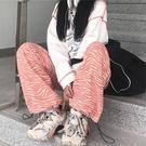 【Charm Beauty】網紅ins 超火 衛褲女 2021春夏 新款 原宿風 休閑褲 迷彩 闊腿褲 高腰 垂感