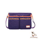 B.S.D.S冰山袋鼠 - 蘭姆嘉年華 - 簡約設計雙口袋側背包 - 葡萄紫【Z073PR】