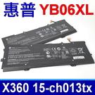HP YB06XL 電池 Spectre x360 15-ch ch013tx HSTNN-DB8H 928427-271 TPN-Q179