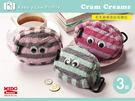 日本Cram Creams大眼仔毛毛臉橫條紋相機包.收納包 (3款)《Midohouse》