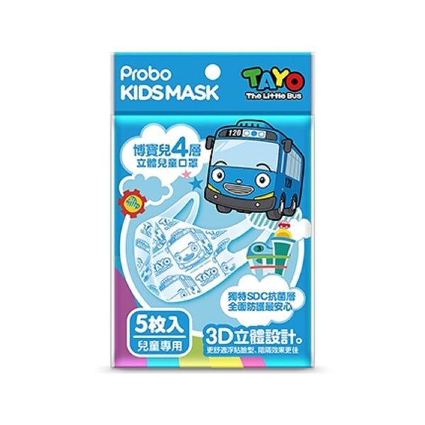 快潔適-博寶兒3D立體兒童口罩TAYO小巴士5入(包) 大樹