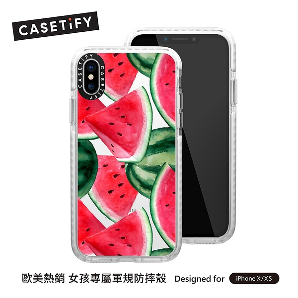 Casetify iPhone Xs/XR/Xs MAX 耐衝擊保護殼-西瓜饗宴