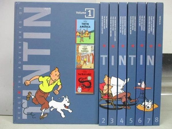 【書寶二手書T1/語言學習_RFP】The Adventure of TINTIN_1-8冊合售_附殼