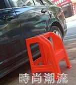 洗車凳子塑料汽車美容高低凳兩步登高梯台階凳腳踏梯家用墊腳高55  潮流