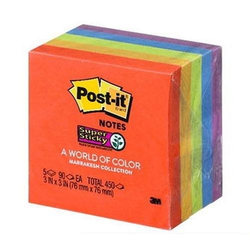 《享亮商城》654-5SSAN 混色 利貼狠黏便條紙紙磚  3M
