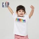 Gap男幼童 Gap x Ken Lo 藝術家聯名系列純棉短袖T恤 854744-白底印花