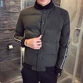 夾克外套-棒球領時尚休閒舒適保暖夾棉男外套3色73qa43[時尚巴黎]
