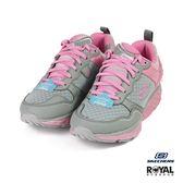 Skechers 新竹皇家 SRR 粉灰色 網布 輕量 回彈力慢跑鞋 女款 NO.I9458