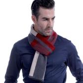 羊毛圍巾-紳士品味拼色方塊秋冬防寒男女披肩3色73ts13【時尚巴黎】