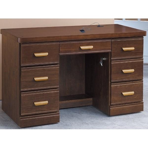 書桌 電腦桌 PK-458-16 浮雕胡桃4.2尺實木書桌 (不含其它產品) 【大眾家居舘】