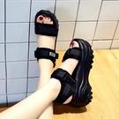 厚底涼鞋女鬆糕底2019夏季新款鞋子高跟防水台坡跟仙女風小碼軟底 米娜小鋪