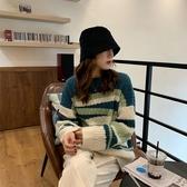 不規則撞色條紋針織上衣針織衫毛衣中大尺碼【29-24-8M1541-19】ibella 艾貝拉