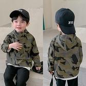 男童外套 兒童外套男童時髦帥氣小童防風上衣工裝風寶寶迷彩色沖鋒衣-Milano米蘭