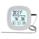 JR9919溫度計 磁吸觸摸廚房食品數字數顯燒烤計時器燒烤叉家用食品烤箱溫度計烘焙