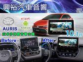【專車專款】2019年TOYOTA AURIS 專用10.1吋觸控螢幕安卓多媒體主機*藍芽+導航+安卓*無碟款