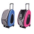 [寵樂子]《IBIYAYA 依比呀呀》五彩繽紛寵物拉桿後背包FC1008-寵物提包(五色)