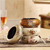 歐式煙灰缸陶瓷復古時尚創意樹脂現代簡約家居客廳裝飾工藝品煙缸【折現卷+85折】