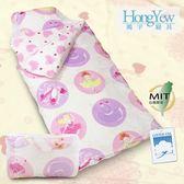 。100%純棉。台灣製造。A0362【鴻宇HongYew】甜心芭蕾防蹣抗菌兒童兩用睡袋