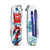 2020 限量上市 VICTORINOX 瑞士維氏限量迷你7用印花瑞士刀-滑雪比賽