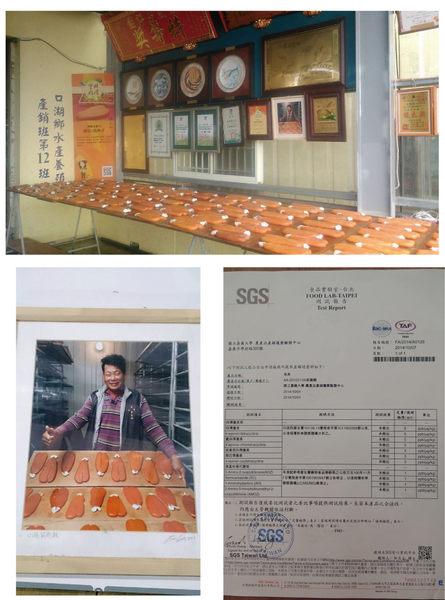 莊國顯一口吃烏魚子-頭獎的好滋味,四度入選「臺灣十大優質烏魚子」