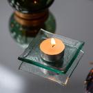 【微解封倒數8折】北歐透淨方型小燭盤8CM-生活工場