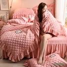 冬季保暖珊瑚絨床包組加厚雙面法蘭絨床單被套宿舍三件套床上用品wl10680[3C環球數位館]