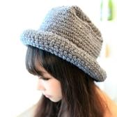 針織毛線帽-時尚純色清新百搭女毛帽5色73ie32【時尚巴黎】