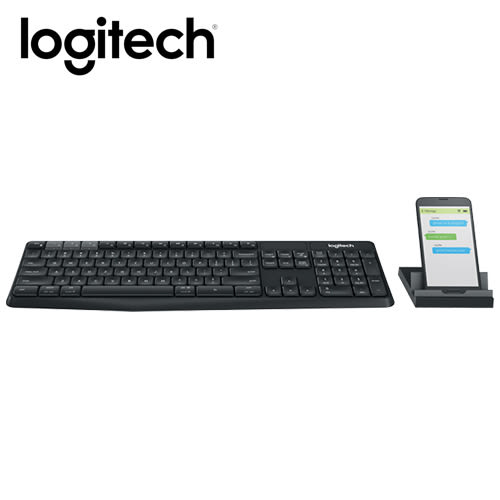 羅技無線鍵盤支架組合