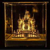 3d金屬建筑模型天鵝堡創意禮物送男女朋友  hh2195『夢幻家居』