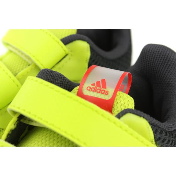 adidas FortaRun Cool CF K 慢跑鞋 運動鞋 兩個魔鬼氈 螢光綠 童 CP9521 no558