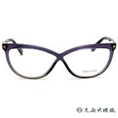 TOM FORD 眼鏡 TF5266 (透紫灰) 8字交叉框面 近視眼鏡 久必大眼鏡