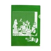 MOOMIN嚕嚕米日本製半透明水果色A4文件夾(奇異果綠)funboxGakken_GK18590