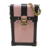 LOUIS VUITTON 路易威登 粉紅色水波紋 Epi 斜背包 Vertical Trunk Pochette BRAND OFF