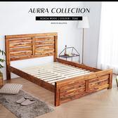 雙人床架 AURRA 奧拉鄉村系列實木5尺雙人床架 / H&D 東稻家居