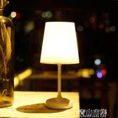 現代簡約迷你小檯燈暖光小夜燈可定時睡眠關燈遙控觸摸臥室床頭燈