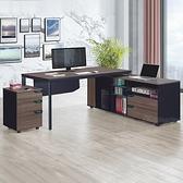 【水晶晶家具/傢俱首選】CX1438-1 LT-01T1816 萊特181公分L型辦公桌(桌子+側邊櫃)(不含活動櫃)